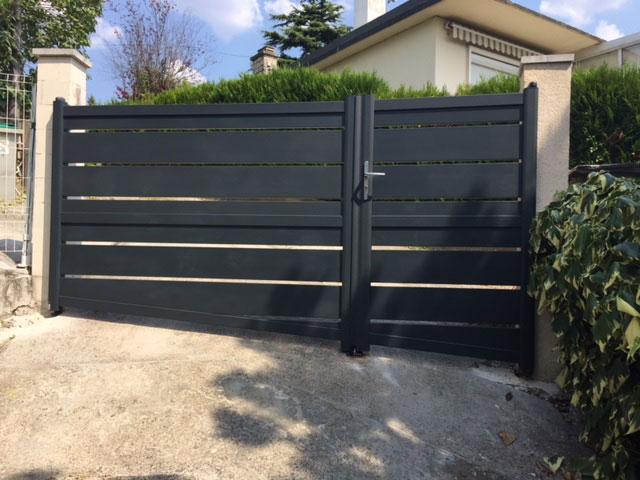 Un portail réalisé dans le Val d'Oise (95)