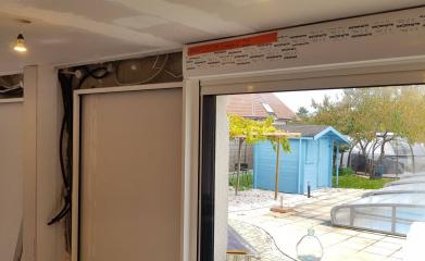Pose et remplacement baie vitrée coulissante 95 image 6