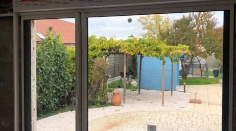 Pose et remplacement baie vitrée coulissante 95