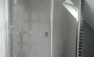Pose d'un pare douche vitré sur mesure 95 image 3