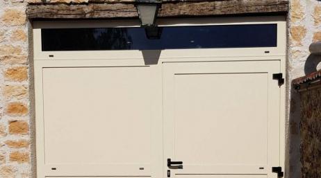 Installation porte de garage battante