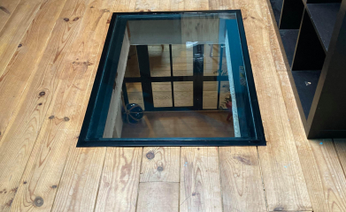 Installation sol et plancher en verre pour puit de lumière 95 image 2