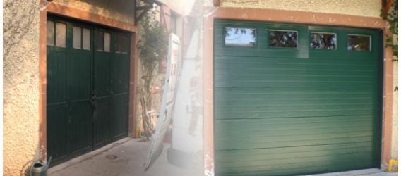 Installation d'une porte de garage sectionnelle
